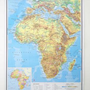Afrika, fizička, 1:10.000.000, 97×112 cm