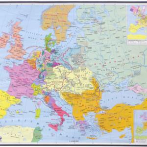 Europa u prvoj polovici 19. stoljeća (1815.-1849.), 137×97 cm
