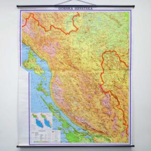 Gorska Hrvatska, 1:130.000, 120×145 cm
