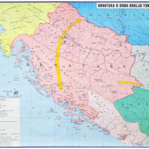 Hrvatska u doba kralja Tomislava, 130×112 cm