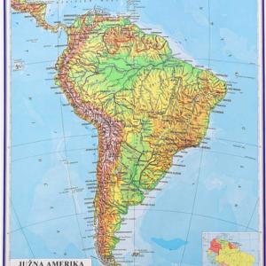 Južna Amerika, fizička, 1:10.000.000, 87×113 cm
