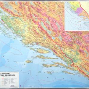 Južno hrvatsko primorje -Dalmacija, 1:200 000, 185×133 cm