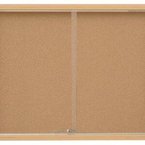 Oglasni ormarić s kliznim staklima (u iveral okviru) 100×100 cm – POZADINA PLUTO