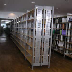Knjižnica -metal/drvo - KK