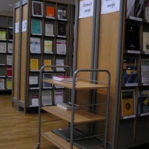 Kolica za knjige – opl. iverica KK-V