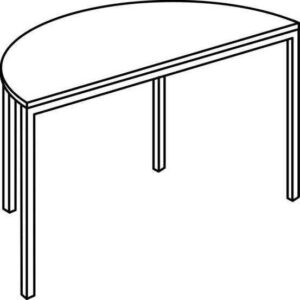 Polukružni stol PM
