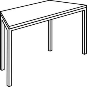 Trapezni stol TM