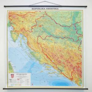 Hrvatska, fizička, 1:500.000, 107×110 cm