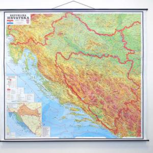 Hrvatska, fizička, 1:300.000 182x163cm