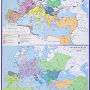 Europa za seobe naroda, 118×163 cm