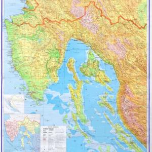 Sjeverno hrvatsko primorje, 1:130.000, 120×130 cm