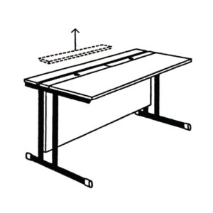 Stol za računalo – podizni poklopac RM-3