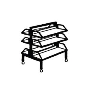 Troetažna kolica za knjige – KS-V