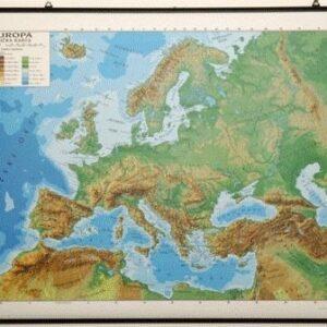 Europa, 1:5.500.000, obostrana slika pol. i fiz.