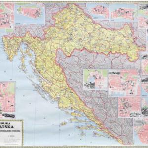 Hrvatski kulturno-povijesni spomenici, 130×100 cm
