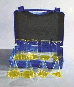 9 prozirnih tijela u kutiji