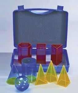 9 obojanih prozirnih tijela u kutiji