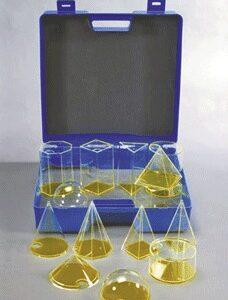 14 prozirnih tijela u kutiji