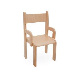 Drveni stolac sa naslonom za ruke – visina sjedala 21-31 cm